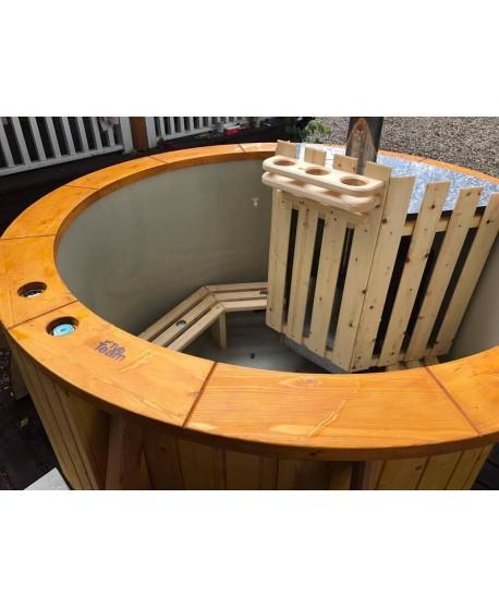 Udendørs boblebad med integreret komfur 1,6 m
