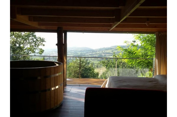 Hot Tub in legno 1.80 m.  Larice+stufa