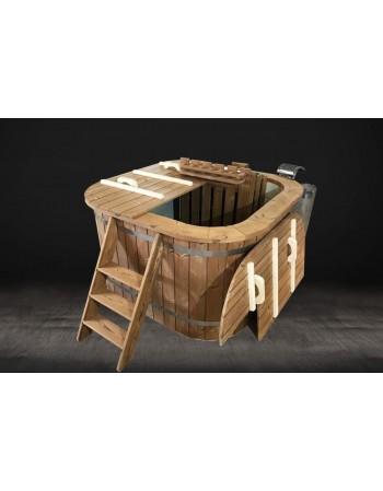 SPA Mini piscina riscaldabile con stufa a legna 150 x 150