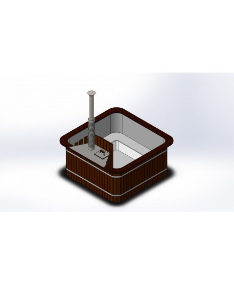 SPA Mini piscina riscaldabile con stufa a legna