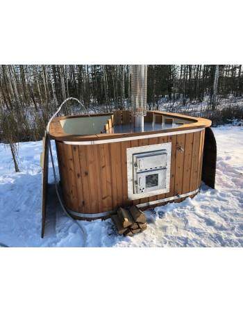 Mini piscina 2 m x 2m  con SPA Extra stufa integrata