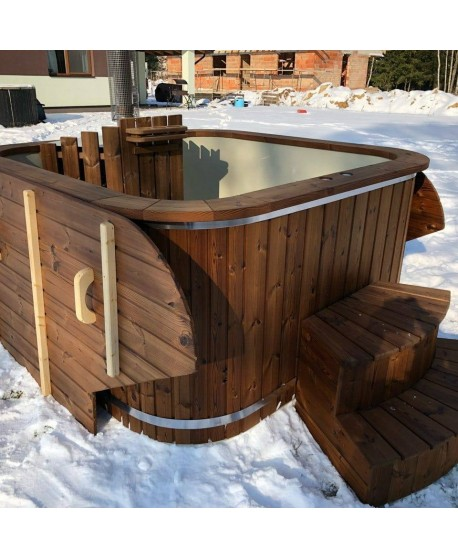 Mini piscina SPA con stufa integrata Potente 200 cm x 200 cm