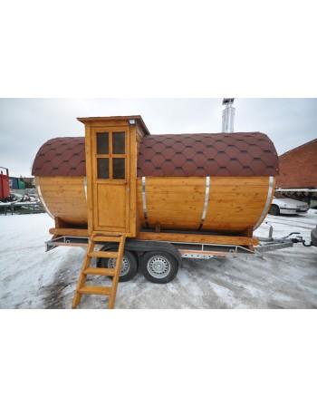 Sauna rotonda da esterno a botte